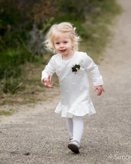 Bolero jasje ivoor gebroken wit communicant bruiloft bruidsmeisje communiekleding bruidskindermode