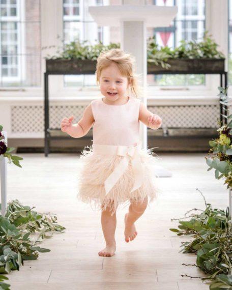 roze verenjurkje meisje bruiloft bruidsmeisje maat 80 86 92 98 kinderkleding bruiloft feestjurk