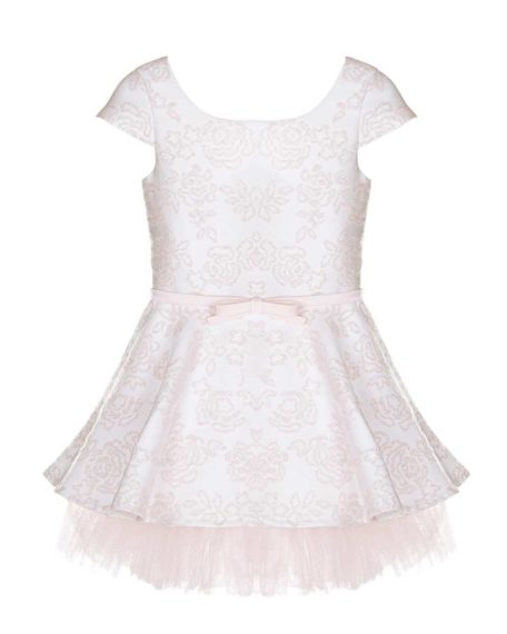 Jurk bruidsmeisje barok zwierjurk roze wit ivoor tule kinder feestjurk meisjes bruiloft