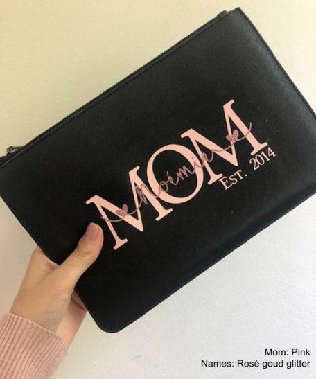 Mama make-up tasje met naam van kinderen