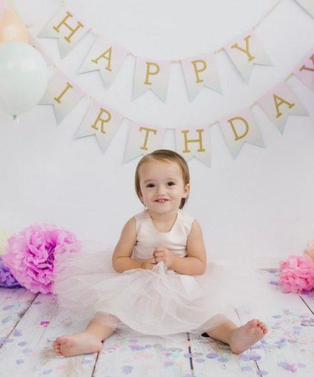 Verjaardagsjurk roze tule meisjes lichtroze zachtroze