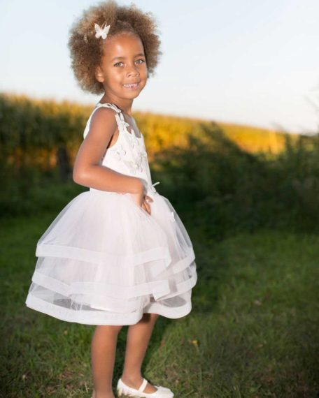 dress party dress child pink bridesmaid children's dress