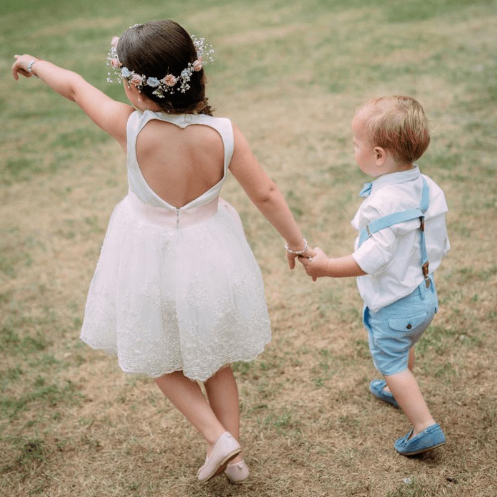 bruidsmeisjes kort jurkje tule jurk jurken kind meisje meisjes ivoor kinderen kant bruidsmeisjesjurkje jurk Mila Kinderbruidsjurkje verenjurk so cute! kinderbruidsmode meisje feestjurkje