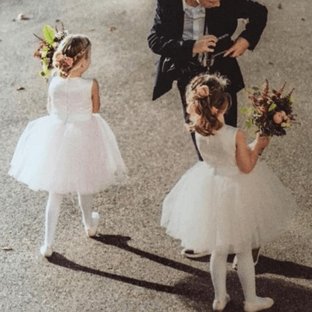 bruidsmeisjes jurkje bruidsmeisjesjurkje Kinderbruidsjurkje kinderbruidsmode meisje feestjurkje roze zachtroze lichtroze feestkinderkleding tule satijn communie communiekleding communiejurk webwinkel jurk