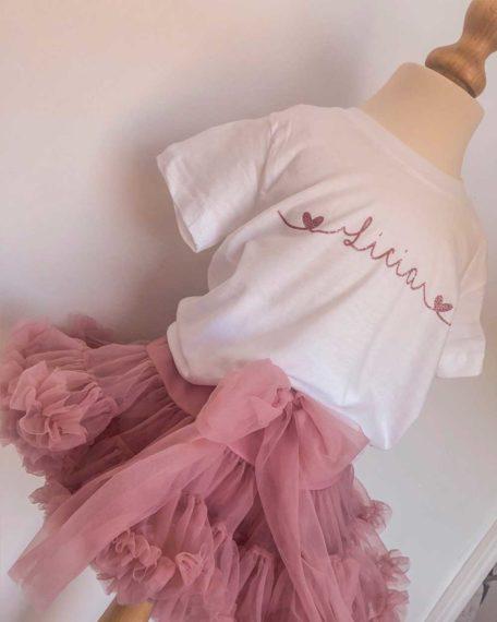 Tule rokje rok oudroze roze meisje meisjes kind