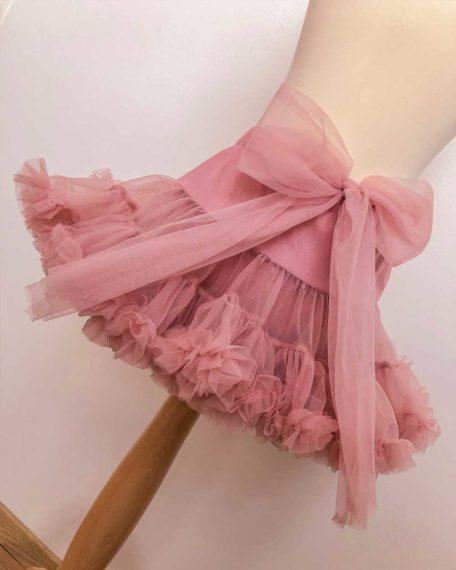rokje tule kort roze oudroze-meisje meisjes kind kinderen