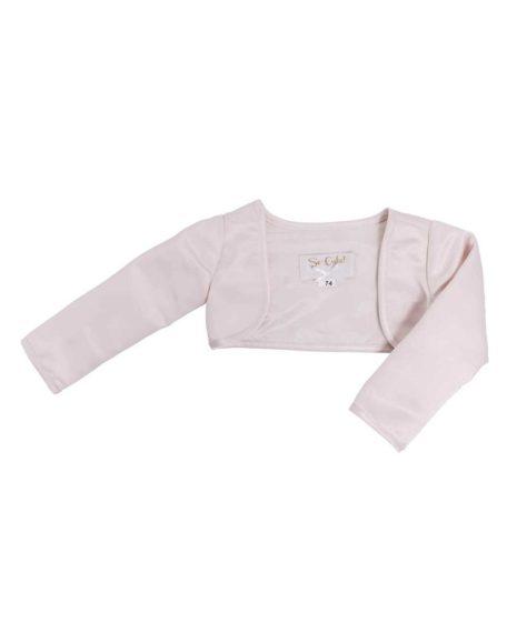 Bolero jasje bruidsmeisje roze zachtroze lichtroze lange mouw kort