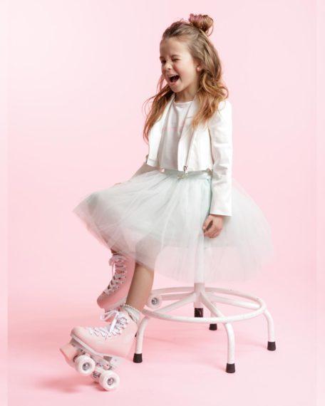 Tule rok mint meisjes kinderen bruidsmeisje kort feestkleding kinderen