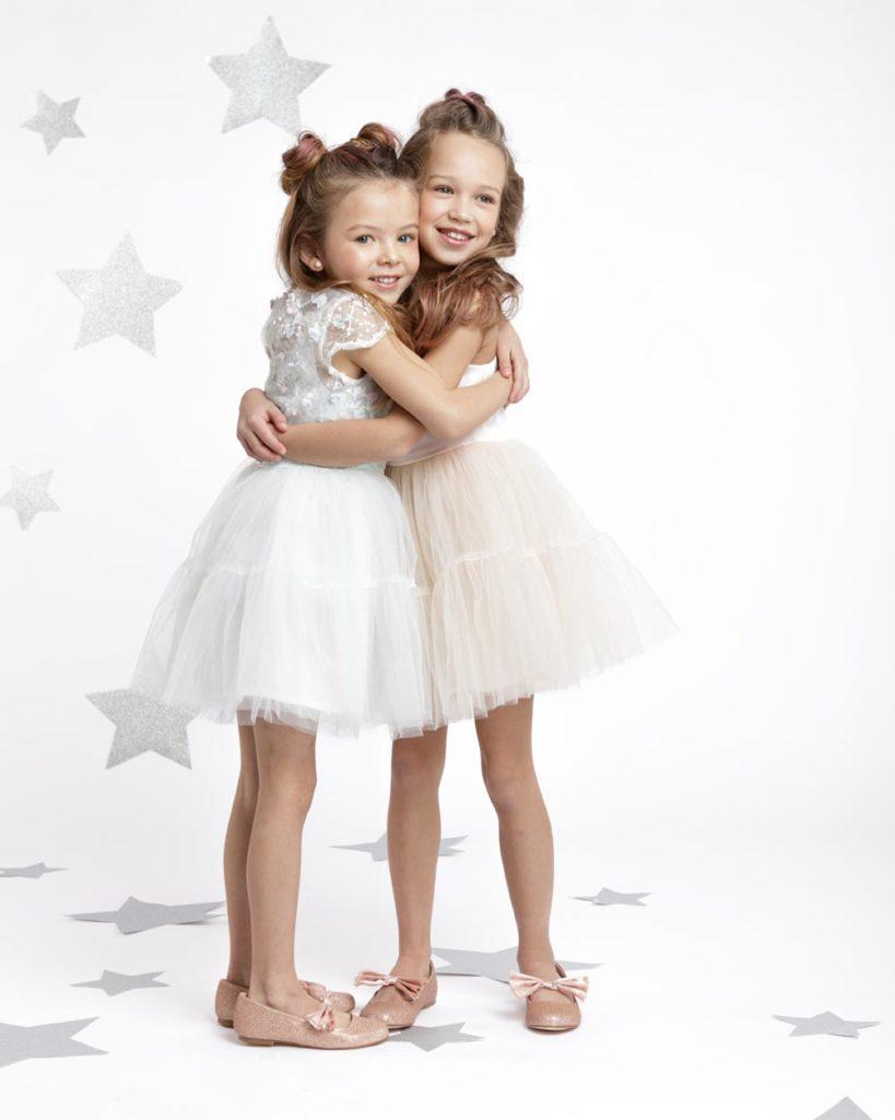 Nova vivian jurk meisje mint bloemen bruidsmeise wit kort tule Nova mint roze wit meisje tule kort feestjurk meisje maat 74 80 86 92 98 104 110 116 122 128 134 140 146 152