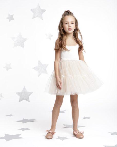 jurk meisje mint bloemen bruidsmeise wit kort tule Nova mint roze wit meisje tule kort feestjurk meisje maat 74 80 86 92 98 104 110 116 122 128 134 140 146 152
