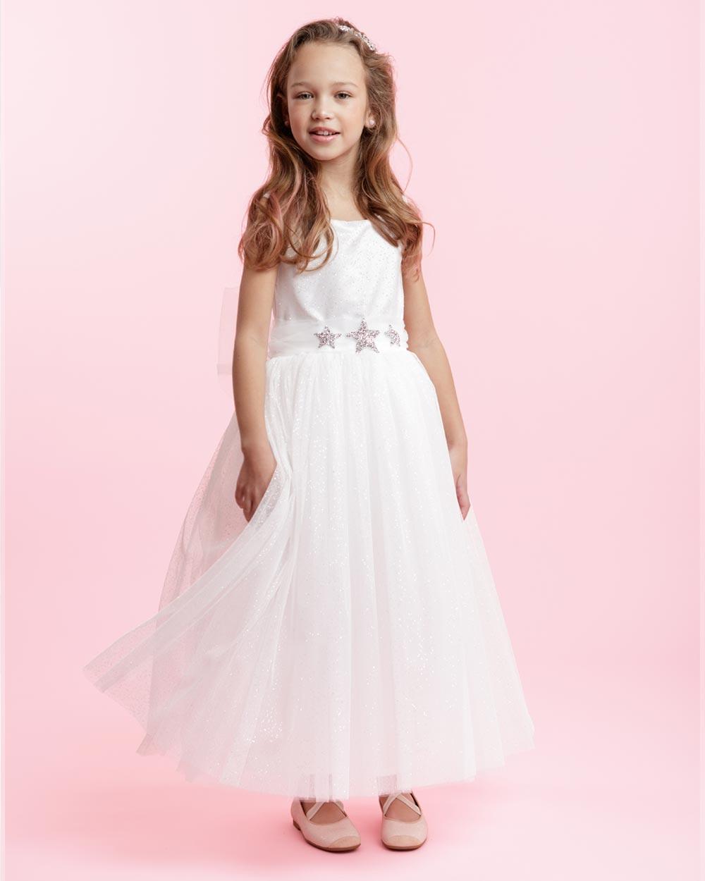 Verwonderend Lange jurk met glitters voor meisjes ♡ So Cute! QG-84