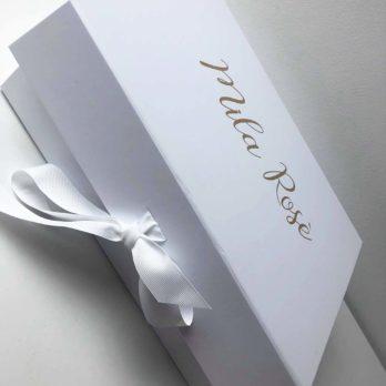Luxe cadeaudoos met naam – rechthoekig