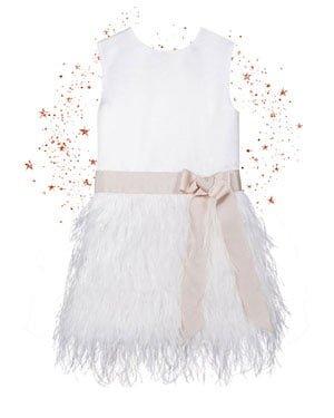 bruidsmeisjes jurk roze feestjurkje meisje meisjes kind kinderbruidsmode tule vlinder communiekleed communiejurk kinderkleding roze ivoor fe verenjurk veertjes veren pluimpjes pluimen
