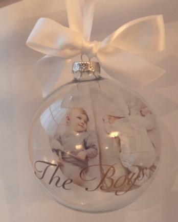 Kerstbal met foto – The Boys/The Girls