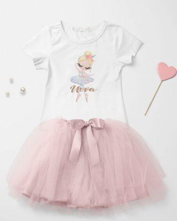 T-shirt met naam – Ballerina Lili