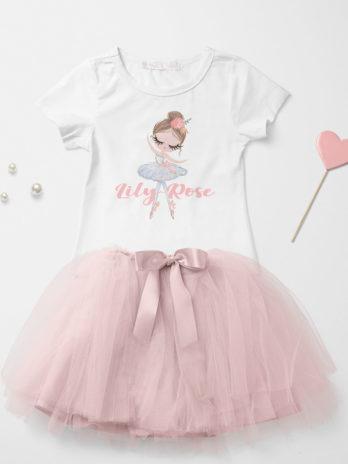 T-shirt met naam – Ballerina Isabella