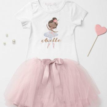 T-shirt met naam – Ballerina Charlize