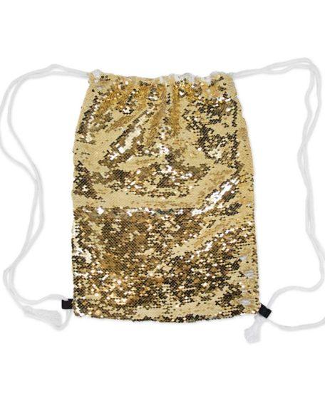 gouden tas voor kinderen met pailletten