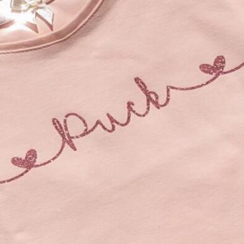 T-shirt met je eigen naam voor kinderen – Roze