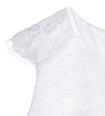 Kleed met kant – Kleedje Noalisa – Ivoor met zachtroze