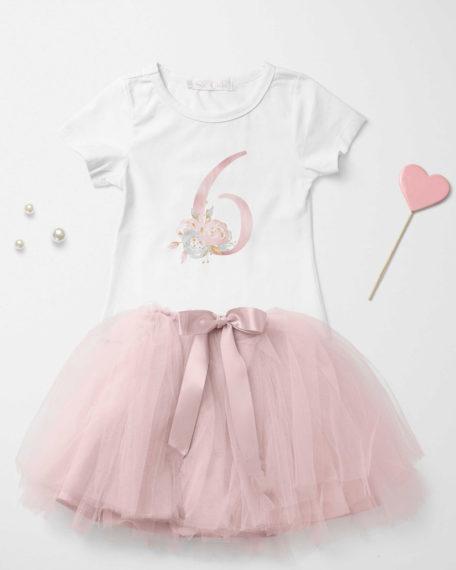 T-shirt en rok voor verjaardag van een meisjes