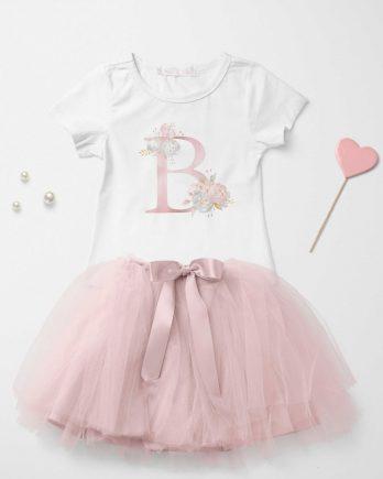 T-shirt met letter voor meisjes
