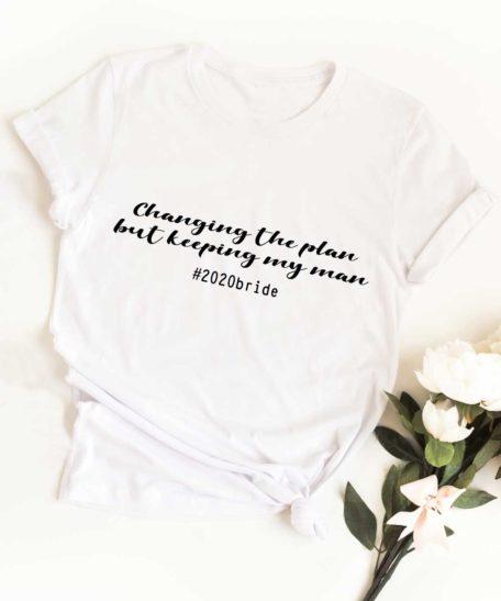 Trouwdatum veranderen corona T-shirt bruiloft