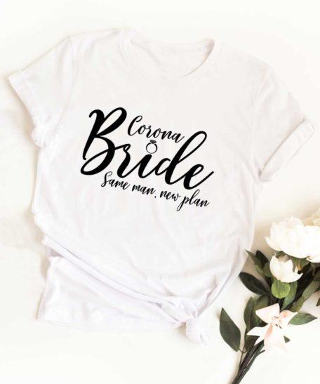 T-shirt Corona bride bruid bruiloft 2020
