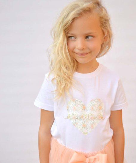 Kinder T-shirt met naam voor meisjes
