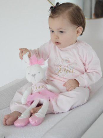 Pyjama met naam voor meisjes – roze