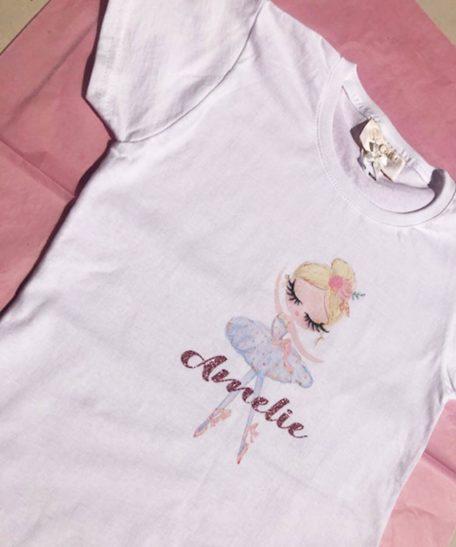 T-shirt met eigen naam kind meisjes