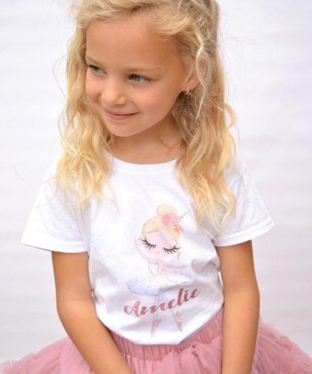 Ballerina T-shirt kinderen