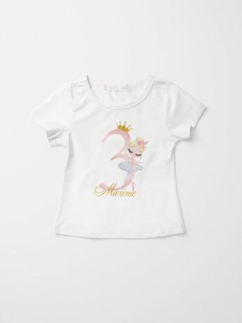 Verjaardag T-shirt voor meisjes – Ballerina Lili