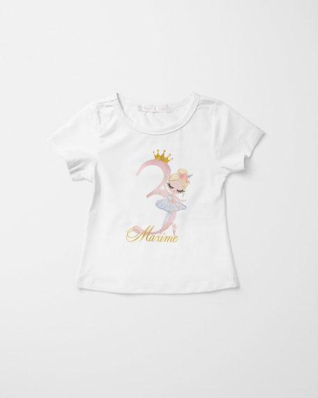 Verjaardag T-shirt meisje ballerina