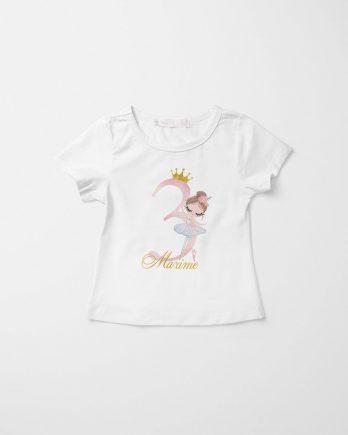 Verjaardag T-shirt voor meisjes – Ballerina Isabella
