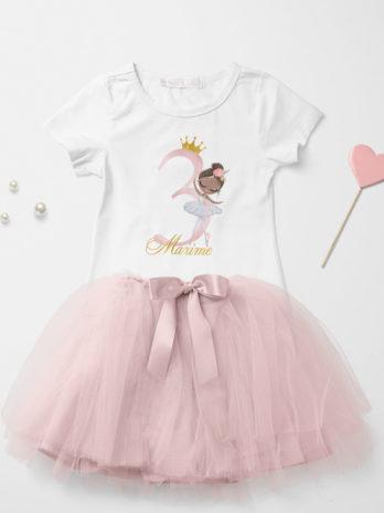 Verjaardag T-shirt voor meisjes – Ballerina Charlize