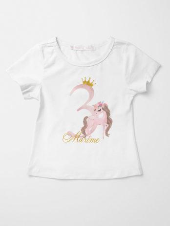 Verjaardag T-shirt voor meisjes – Paard