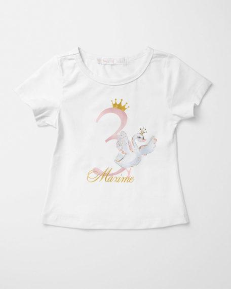 Kinder T-shirt met zwaan