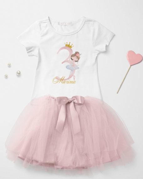verjaardag kleding meisje roze rok
