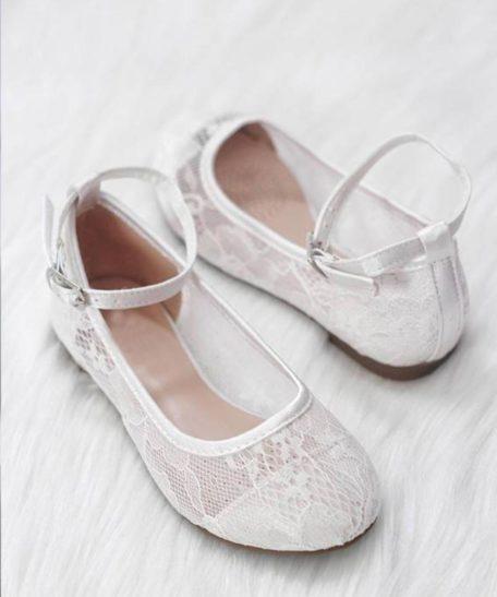 Schoenen meisjes schoentjes Ivoor gebroken wit bruidsmeisjes