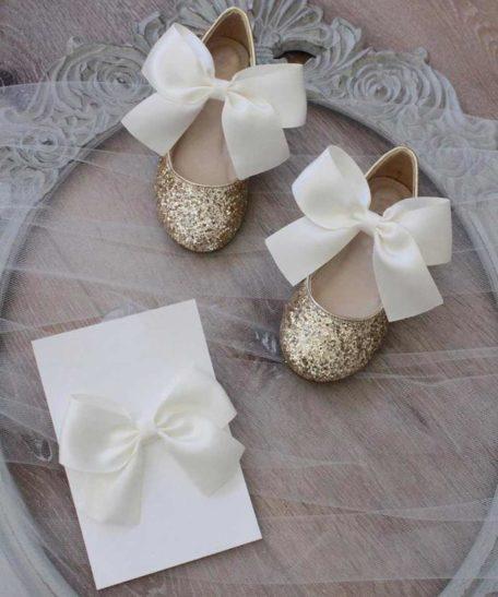 Schoenen voor feest meisje met glitters feestelijke schoentjes