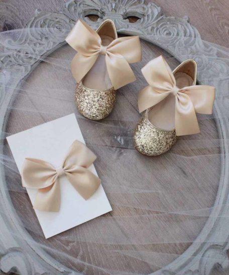 Gouden feestelijke schoentjes schoenen voor meisjes kinderen goud gouden goudkleurig