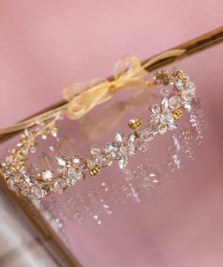 Haarband bruidsmeisje strass glitter bruiloft haaraccesoires goud meisje online kopen