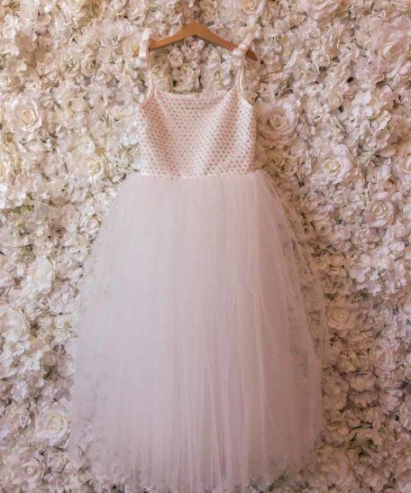 Lange tule jurk voor meisjes bruidsmeisjes communie