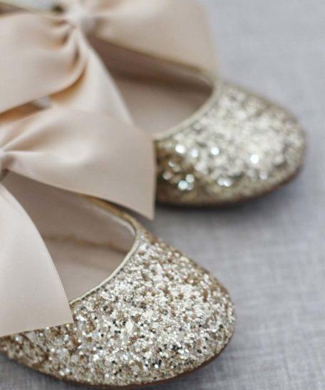 Gouden glitter schoentjes voor meisjes kinderschoenen eindhoven