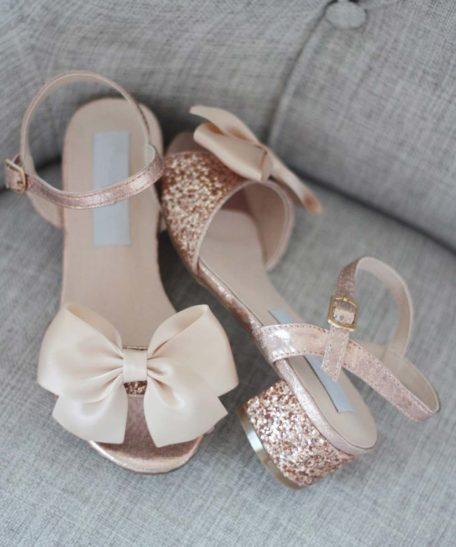 Roze meisjes schoentjes schoenen voor feest bruidsmeisjes communieschoentjes meisjes