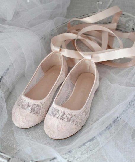Feest schoentjes voor meisjes in zachtroze lichtroze roze