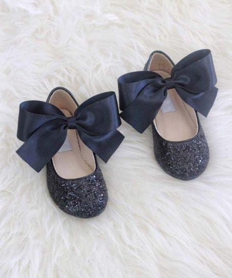 Zwarte glitter schoenen voor meisjes met strik online webwinkel