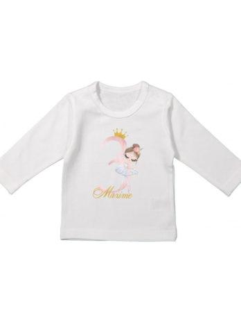 Verjaardag T-shirt lange mouw voor meisjes – Ballerina Isabella