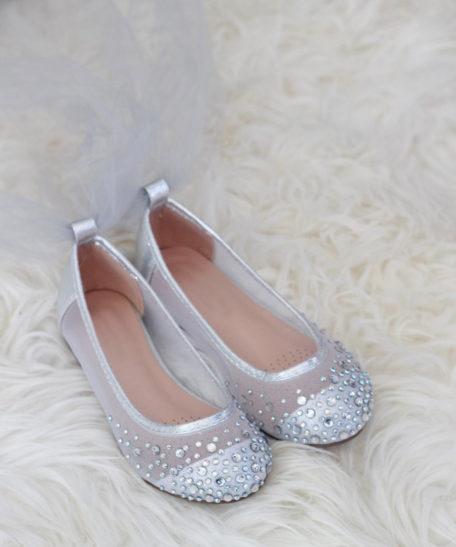 Bruidsmeisjes schoenen zilver voor meisjes